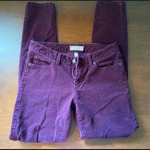 Banana Republic Purple Corduroy Skinny Fit Pants
